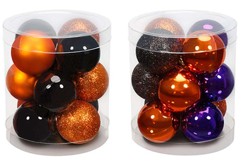 happy deals Halloween Tree Ornaments - 35MM Size - 24 Pack - Assorted Colors