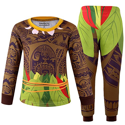 Maui Toddler Boys Pajamas Sets 2 pcs Tops and Pants Cartoon Pjs Sleepwear (2T (1-2Years), Long A008) (Baby Christmas Adopted Surprise)
