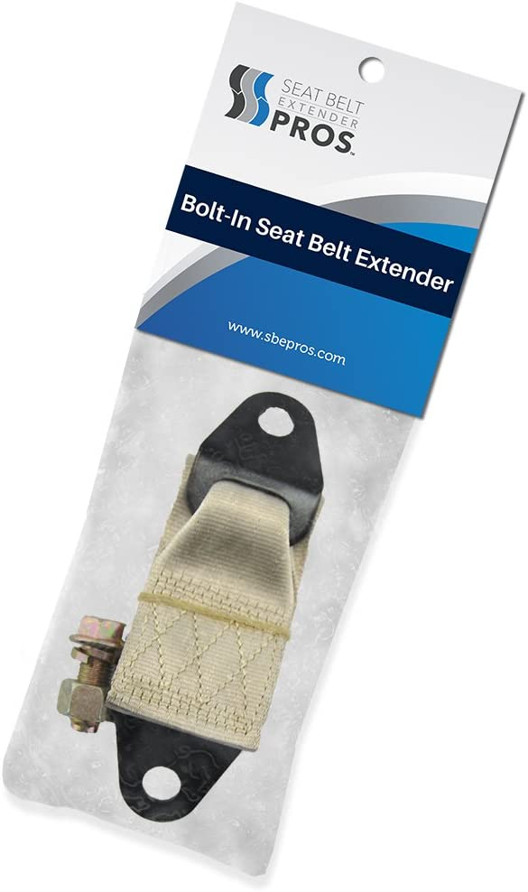 All Parts Included - Easy Installation 12 Universal Bolt-in Seat Belt Lengthener Black - Buckle Up /& Drive Safely Again