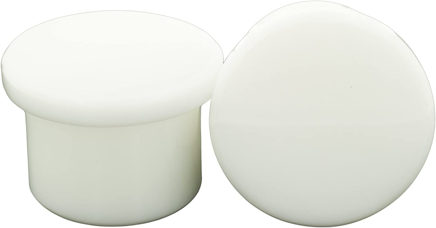 1//2 White Pair of Glass Single Flared Solid Plugs