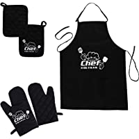 Charmeuse Kitchen Apron Set for Women and Men, 4 Piece set with Oven Mitt and Potholders – Perfect Gift Set – Durable…