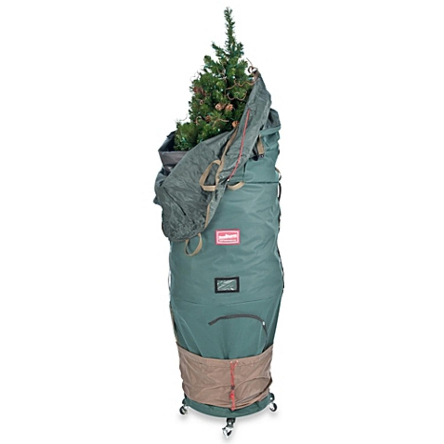 Large Adjustable Upright Christmas Tree Protective Storage Bag W/ 2 Way Rolling- Hold 7' Trees