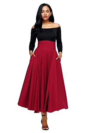 4436bb32a Boldgal Women's Western Wear Long Pleated Maxi Skirt at Amazon Women's  Clothing store: