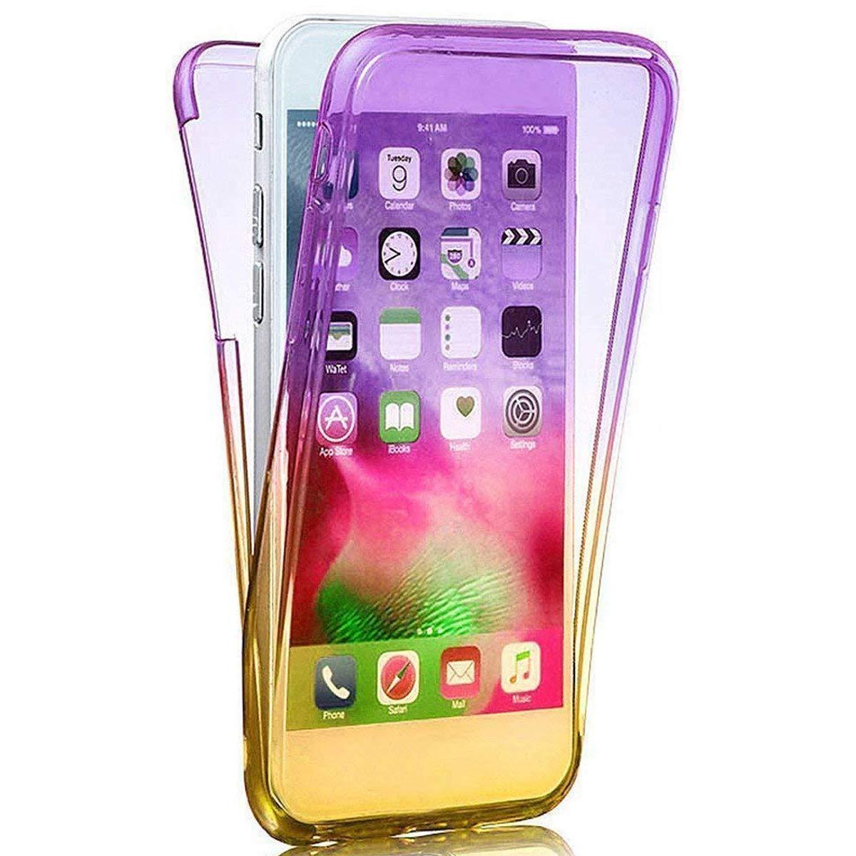 Kompatibel mit iPhone XR H/ülle 360 Grad Full Body Transparent Silikon TPU Cover Vorne und Hinten Kratzfest 3 in 1 Gl/änzend Glitzer Schutzh/ülle Case f/ür iPhone XR 6.1 Zoll,Silber