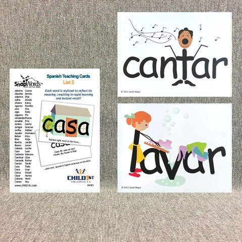 Snapwords® Spanish Teaching Cards List 2