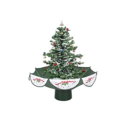 northlight pre lit musical snowing artificial christmas tree with polar white led lights 25