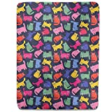 Rainbow Cats Fitted Sheet: Twin Luxury Microfiber, Soft, Breathable