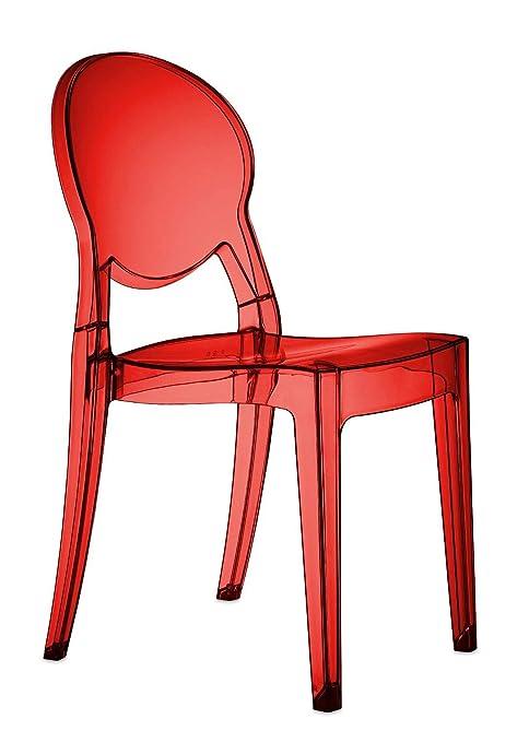 Sedie Rosse Trasparenti.Scab Design Set 4 Sedie Igloo Chair Colore Rosso Trasparente