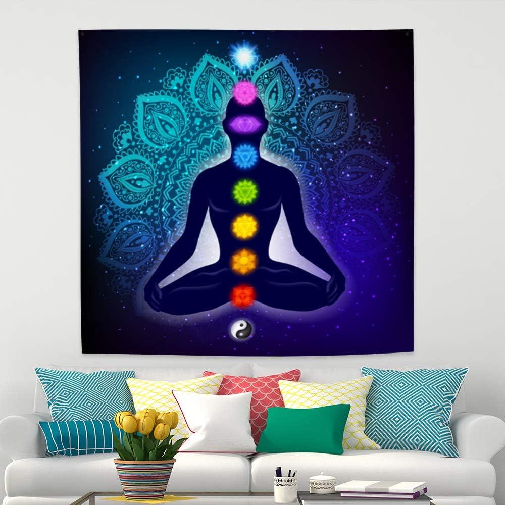 Mandala Yoga Tapestry Psychedlic Flower Wall Hanging Home Decor Wall Art Blanket