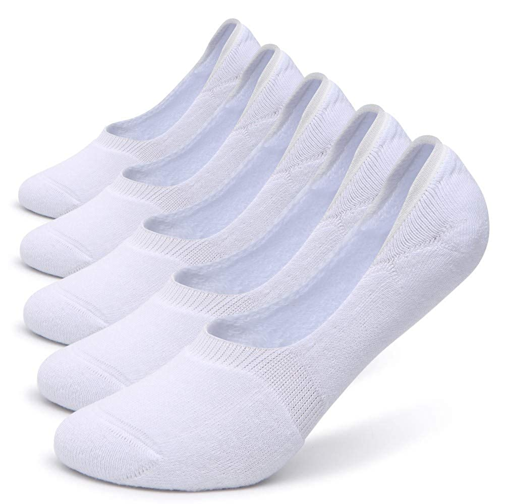 Pareberry Womens Thick Cushion Cotton Athletics Casual Low Cut Flat Non-Slip Boat Liner No Show Socks-5//10 Pack