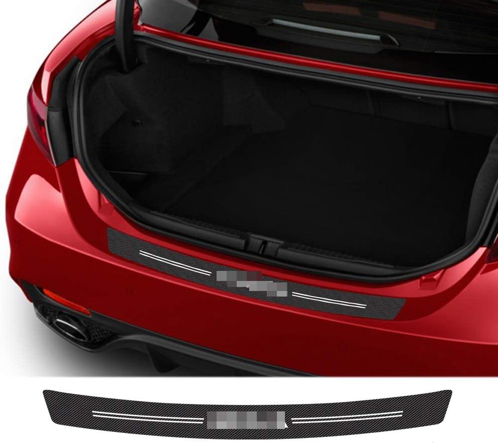 JzyhNzd pour Nissan Tiida Teana Skyline Juke x-Trail Almera Voiture Style Fibre de Carbone Queue Coffre arri/ère Pare-Chocs Garde Plaque prot/éger Autocollant