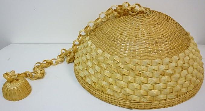 Plafoniera Vimini : Lampadario lampada in bamboo bambù vimini e giunco appendibile per