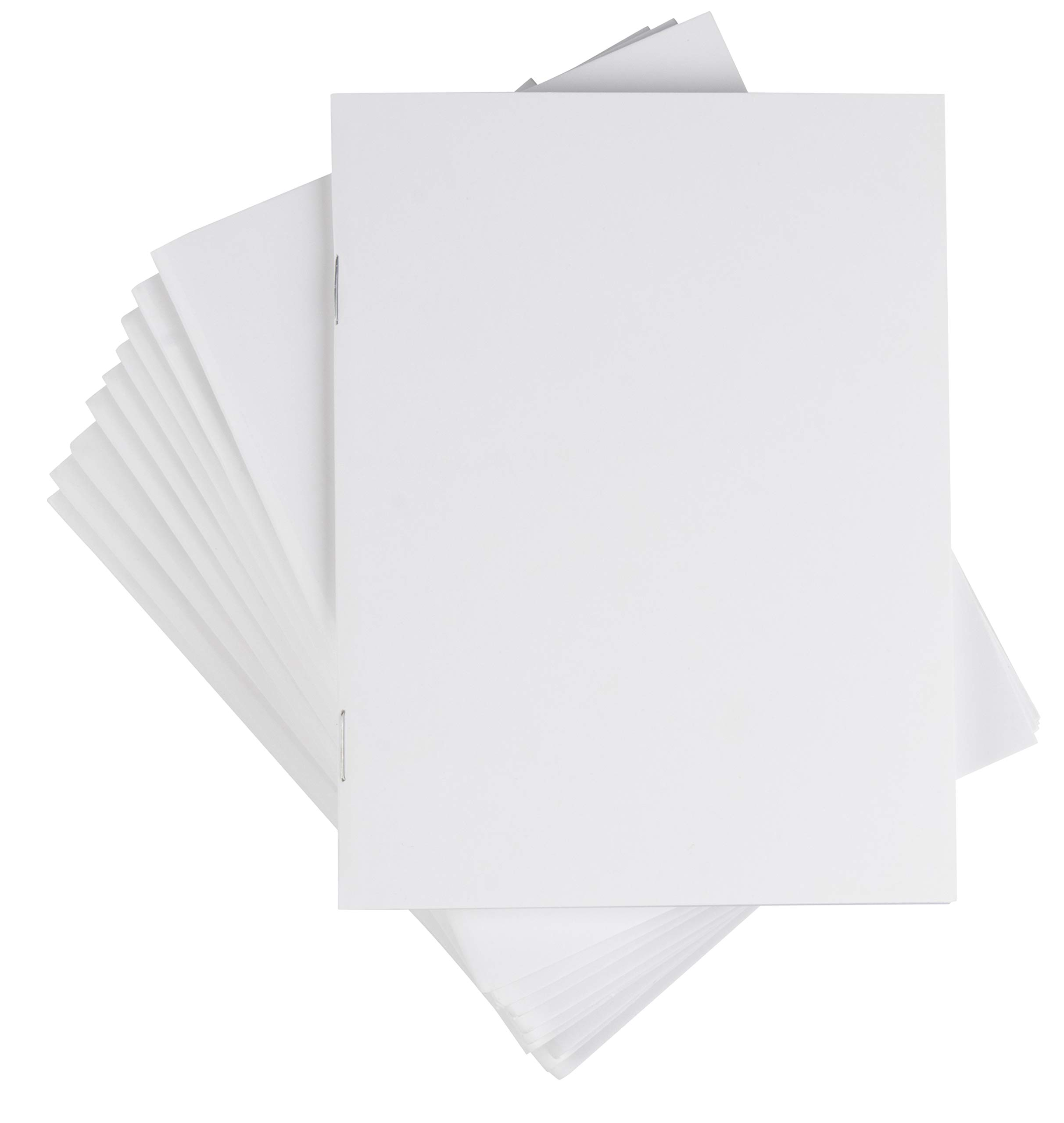 Blank Notebook - 24-Pack Unlined Books, Unruled Plain Travel Journals for Students, School, Children's Writing Books, Creative Class Projects, White, 4.25 x 5.5 Inches, 24 Sheets Each by Paper Junkie