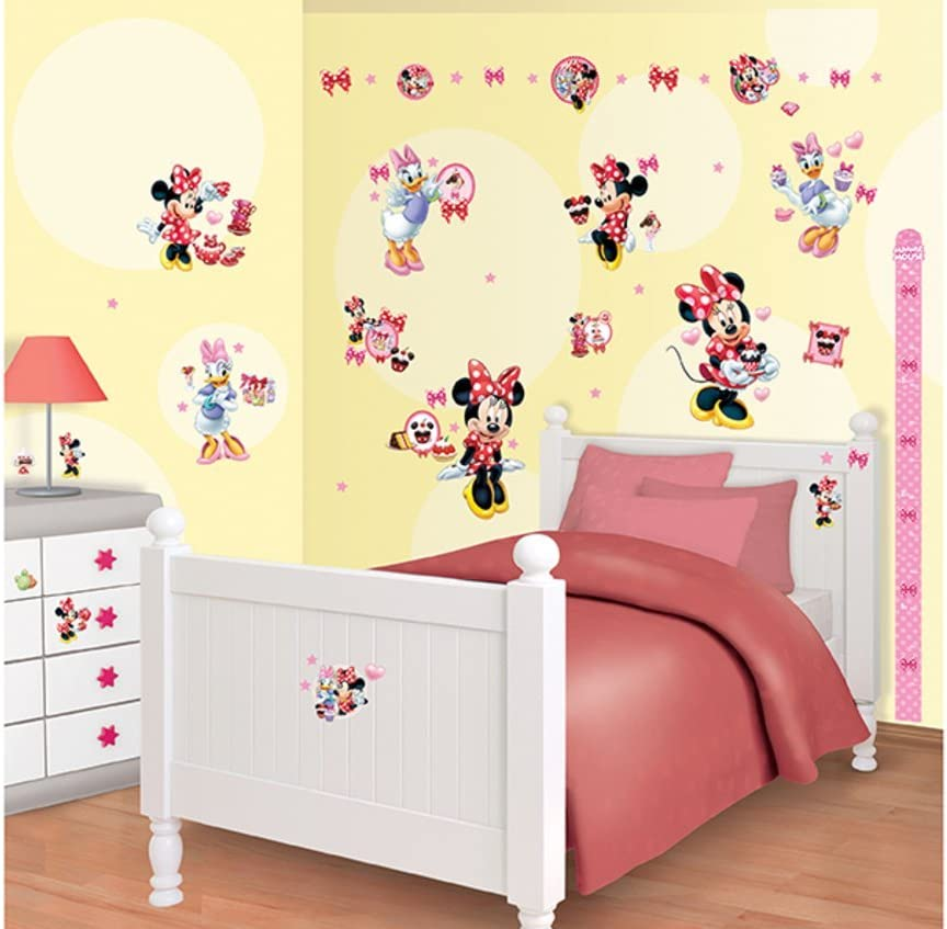 Walltastic Disney Minnie Mouse Room Decor Kits Multi Colour Amazon Co Uk Kitchen Home