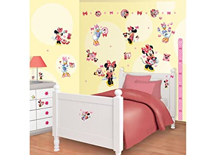 Walltastic Disney Minnie Mouse Room Decor Kits, Multi Colour