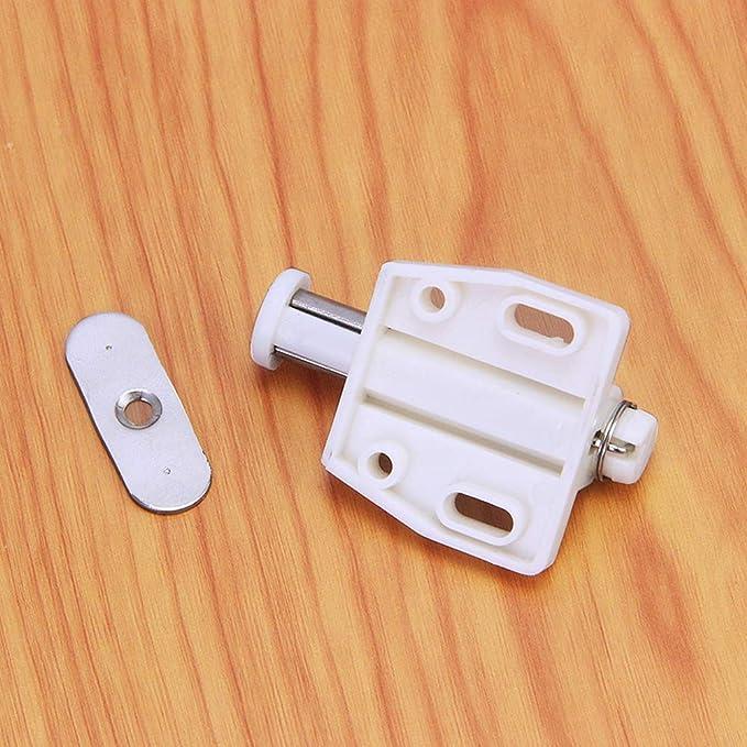 YUOIP® Cierre Magnético Captura Magnética Amortiguador para Abre y Cierra la Puerta con un solo empuje (10 piezas)(Beige): Amazon.es: Bricolaje y herramientas