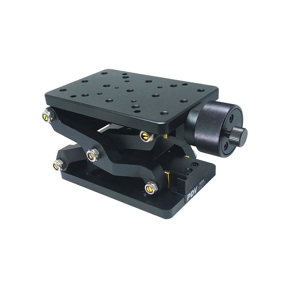 Z Axis Precise Manual Lift Platform Lab Jack Elevator Optical Sliding Lift Travel 60mm PT-SD408