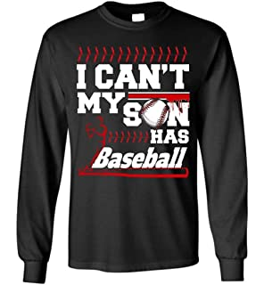 Bee-Viral I Cant My Son Has Baseball Blend Hoodie Baseball Dad Mom Shirt