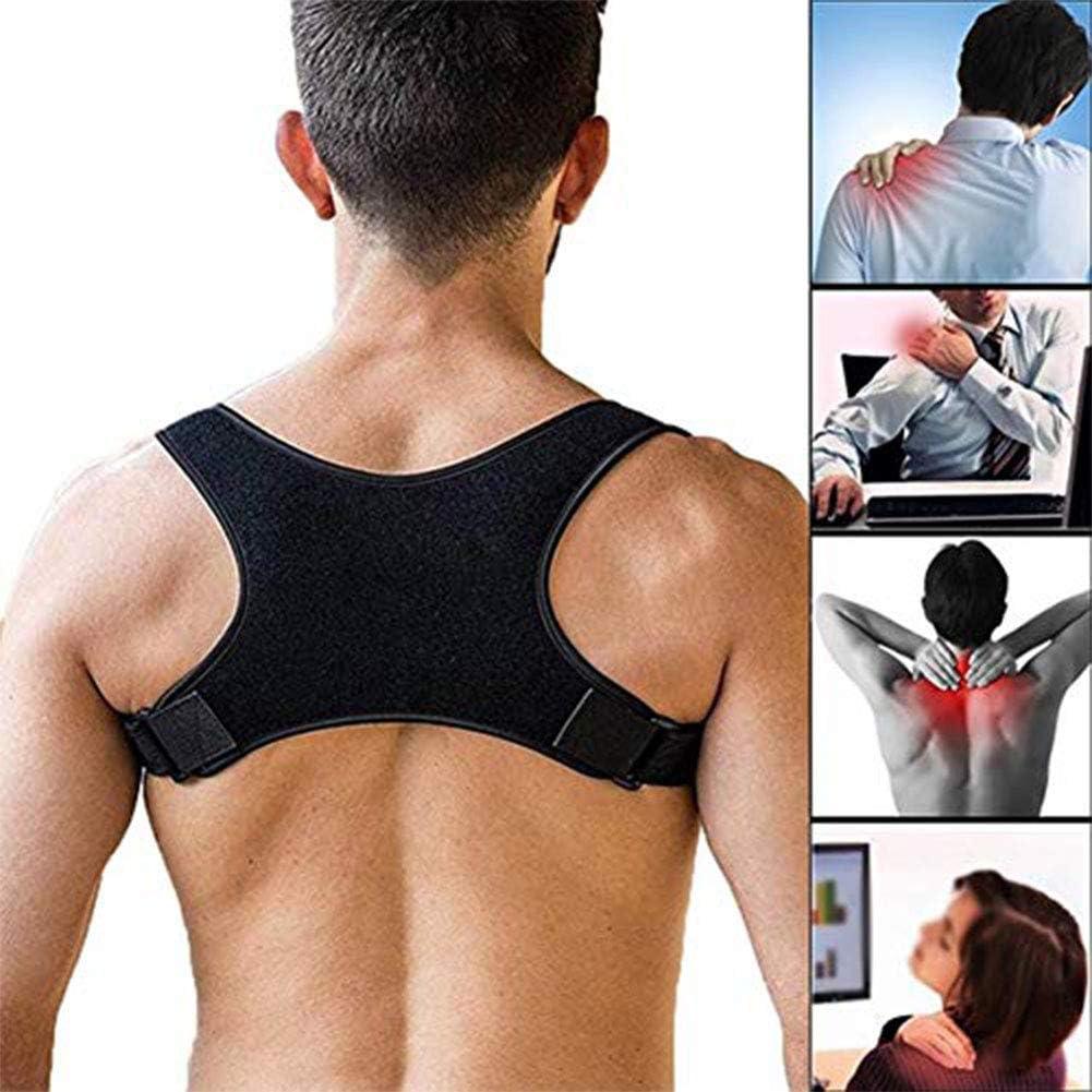 Corrector de Postura Hombro y Clavícula, Cinturón Corrector Postura Ajustable, Cómodo Espalda Recta Soporte para Mujer e Hombre, Corregir Postura para Alivio del DolorL