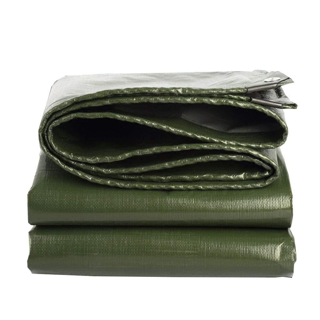 YX-Planen Grün Starke zweiseitige Plane Multi-Purpose Thick - Hohe Dichte 100% wasserdicht und UV-geschützt - Dicke 0,35 mm, 180 g m²