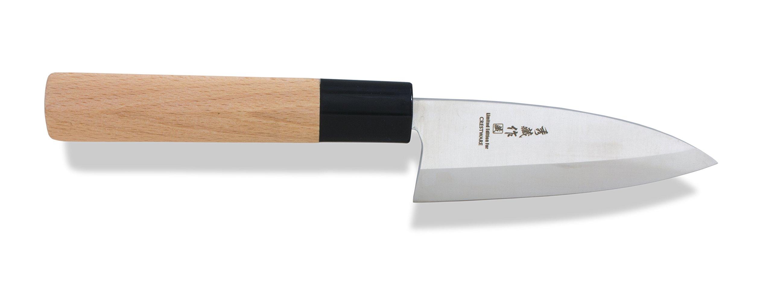 Crestware KN310 Deba Knife, 5'', Silver