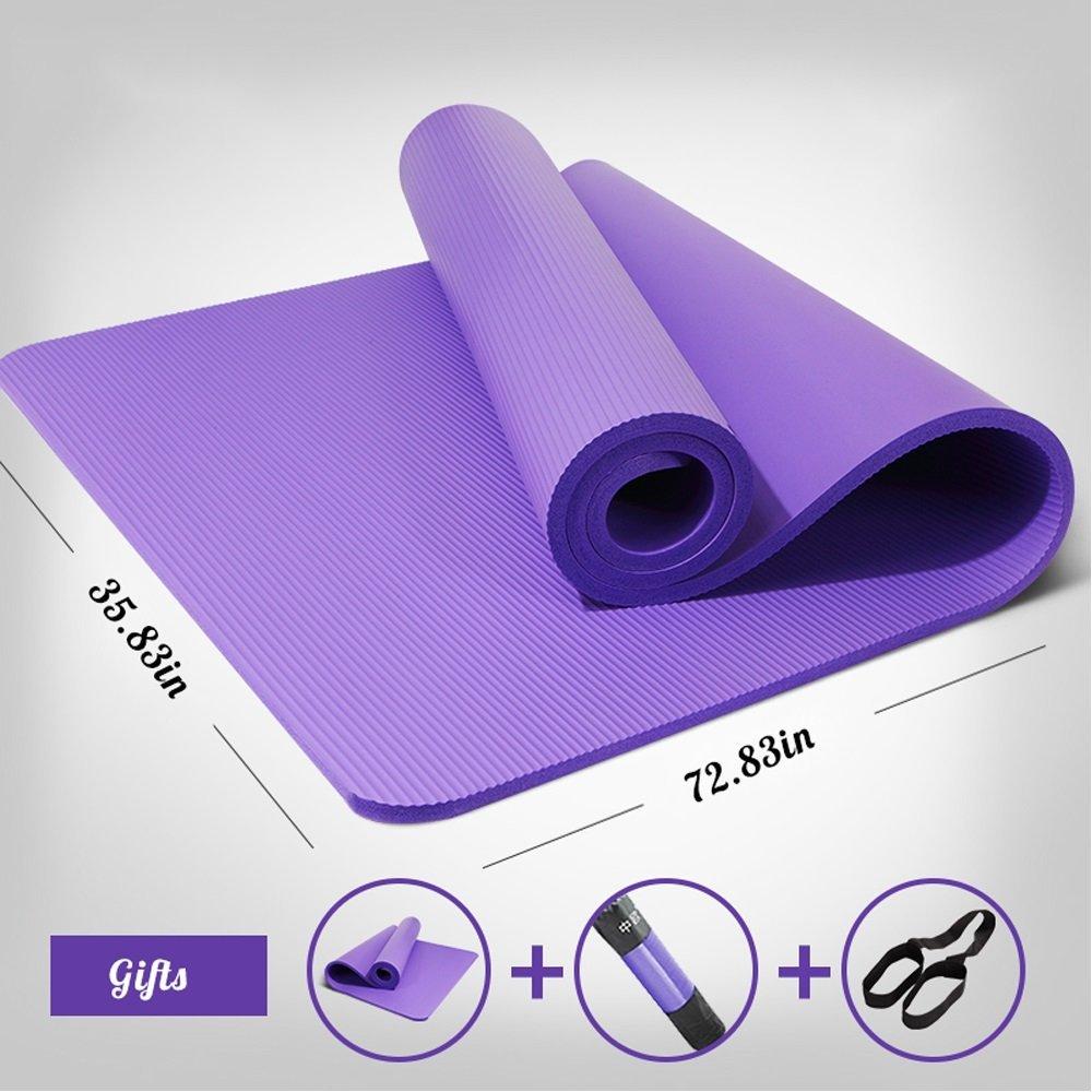 FORTR Home Alfombra de Yoga Antideslizante para Hombres, para Principiantes, Engrosamiento, Estera Larga y Larga para Ejercicios