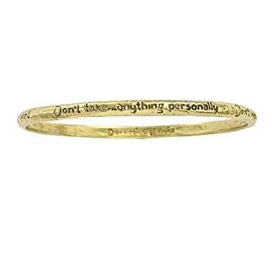 House of Alaia Four Agreements Reminder Bangle In Bronze Large cV4EUo