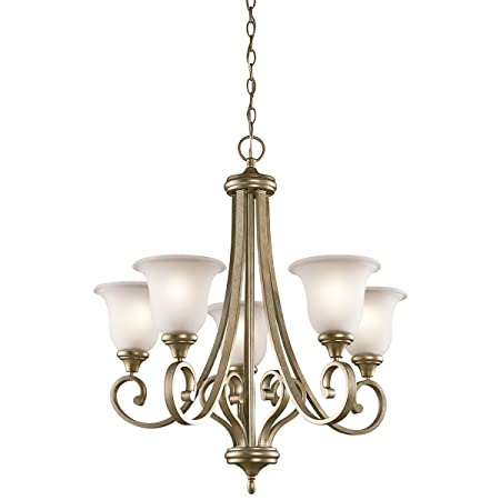 Kichler 43156SGD Chandelier Lighting, Sterling Gold 5-Light 28 W x 30 H 500 Watts