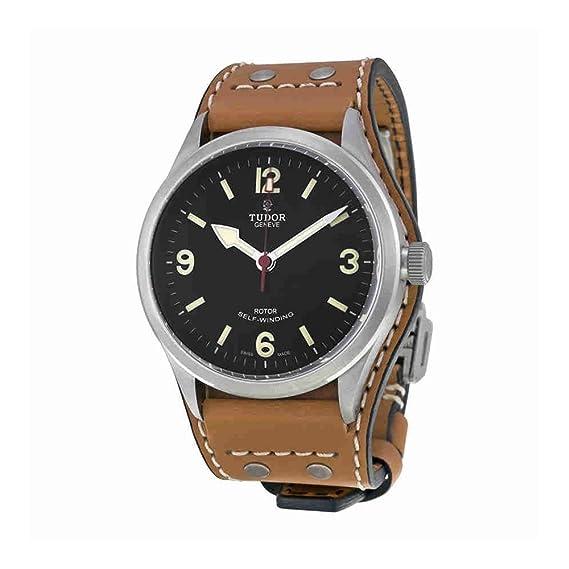 Tudor Heritage Ranger – Reloj automático negro Dial de tobaco Marrón de Piel para hombre 79910
