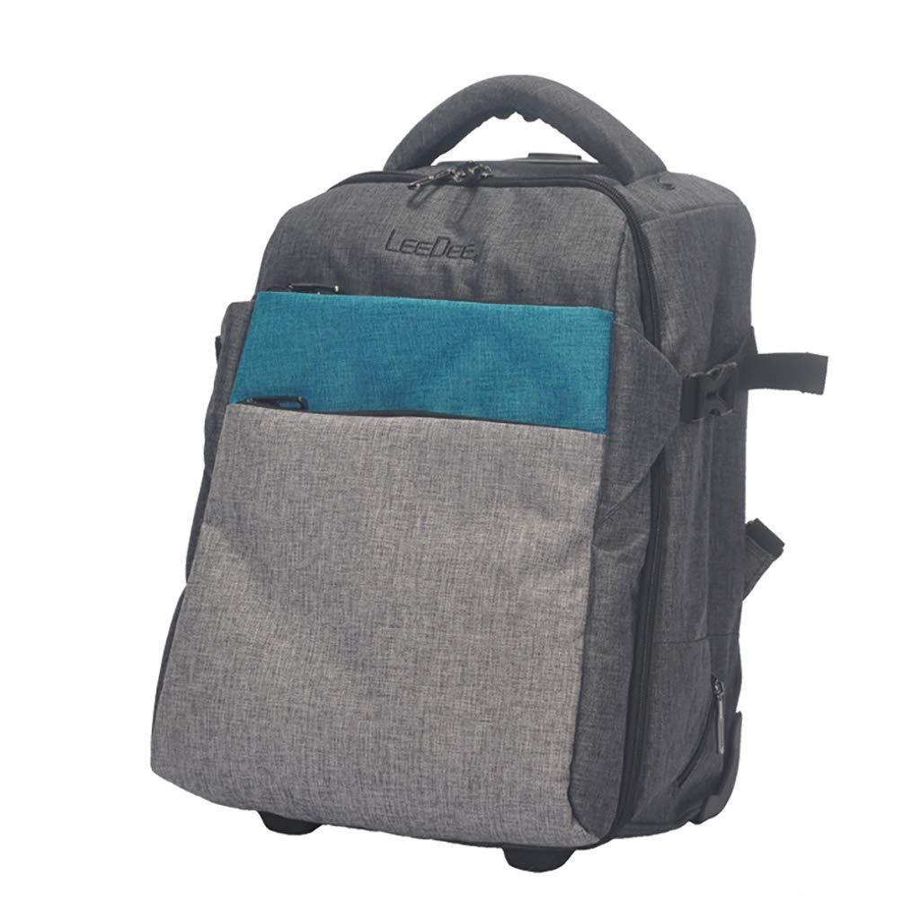 学校のラップトップバッグを旅する少年のためのトロリーバックパック大容量ストレージウィールドローリングバックパック防水旅の荷物 B07MDWWY8L E