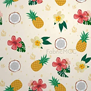 Decorative Tile Stickers Set, Floral Print Flower Pineapple Fruit Yellow Pattern Ananas 4 x 4 Inch Peel & Stick Vinyl Tiles Floor Decal, 12 Units Waterproof Vinyl Wall Tiles Sticker for Home Decor