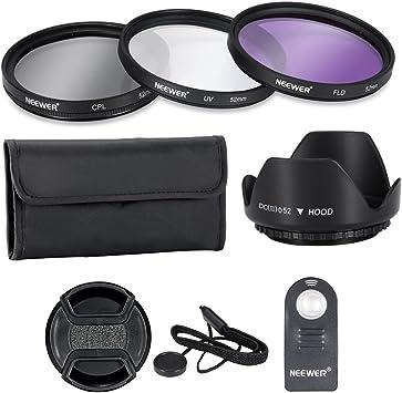 Neewer® - Kit de accesorios de filtro para lente profesional de 52 ...