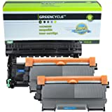 Greencycle 3 PK TN450 TN420 DR420 Black High Yield Laser Toner Cartridge and Drum Unit For Brother DCP-7060D,HL-2230,HL-2240DW,Intellifax-2840/2940 Printers (2 Pack TN-450 and 1 Pack DR-420)