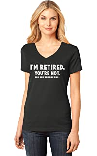 TeeStars - Retired Since 2018 - Retirement Gift Idea V-Neck Fitted ... 3c9cb0bb0