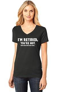 TeeStars - Retired Since 2018 - Retirement Gift Idea V-Neck Fitted ... 743502289