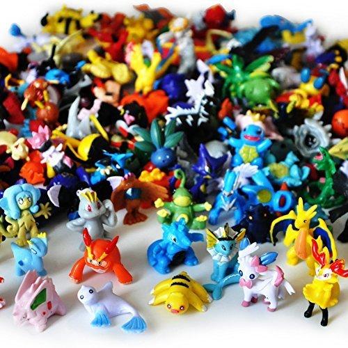 Idesire Lots 144pcs Pokemon Pikachu Monster Action Figures Multicolor 2-3CM