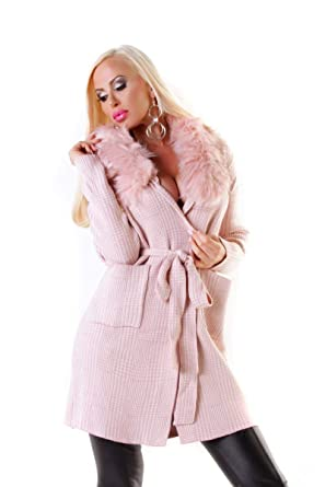 Kurzmantel Fashion Kariert Osab Cardigan 4376 Damen Mantel IY6bfv7gy