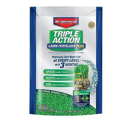 Amazon.com: bioadvanced Triple Acción fertilizante césped ...