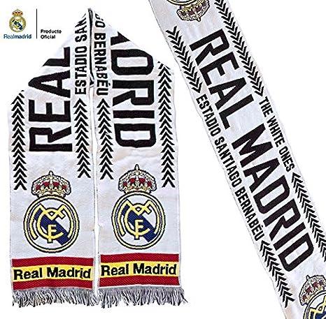 Bufanda Real Madrid – Blanca Santiago Bernabéu – España – Producto Oficial: Amazon.es: Deportes y aire libre