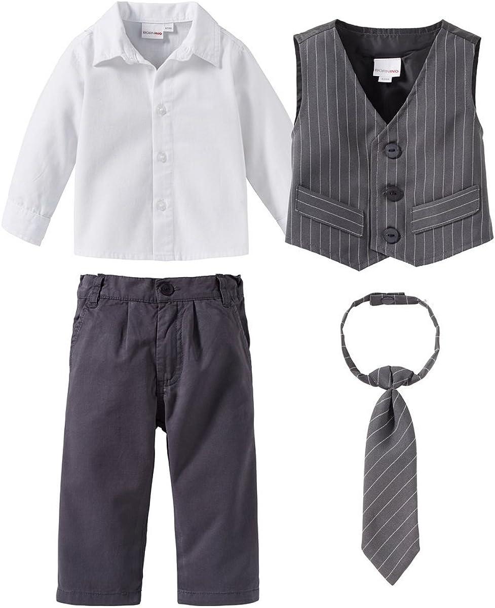 4-TLG. Anzug mit Weste elastischer Hose ...