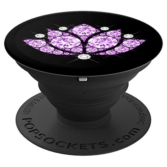 Amazon purple lotus flower yoga meditation symbol gift purple lotus flower yoga meditation symbol gift popsockets grip and stand for phones and tablets mightylinksfo