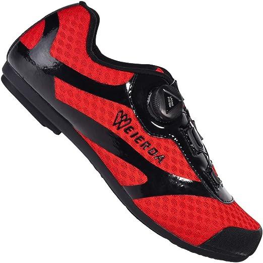 DRAKE18 Zapatillas de Ciclismo de Carretera, Bicicleta de montaña ...