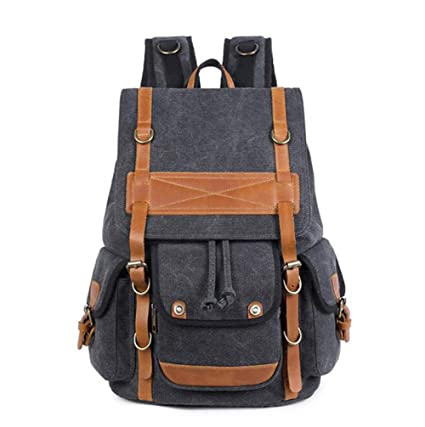 Amazon.com  KIMSAI Canvas Backpack 07e7128f2ef41