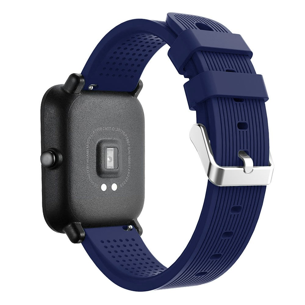 iumei for Huami Amazfit Bip Watch Band, Sport Replacement Soft Silicone Strap Bracelet Bands Wirstband for Huami Amazfit Bip Watch (Navy)