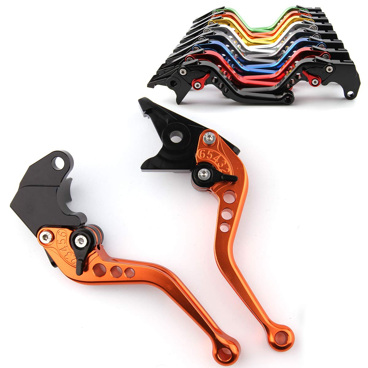 MFS MOTOR Adjustable CNC Short Brake Clutch Levers for Honda CBR600RR 2003-2006 CBR954RR 2002-2003