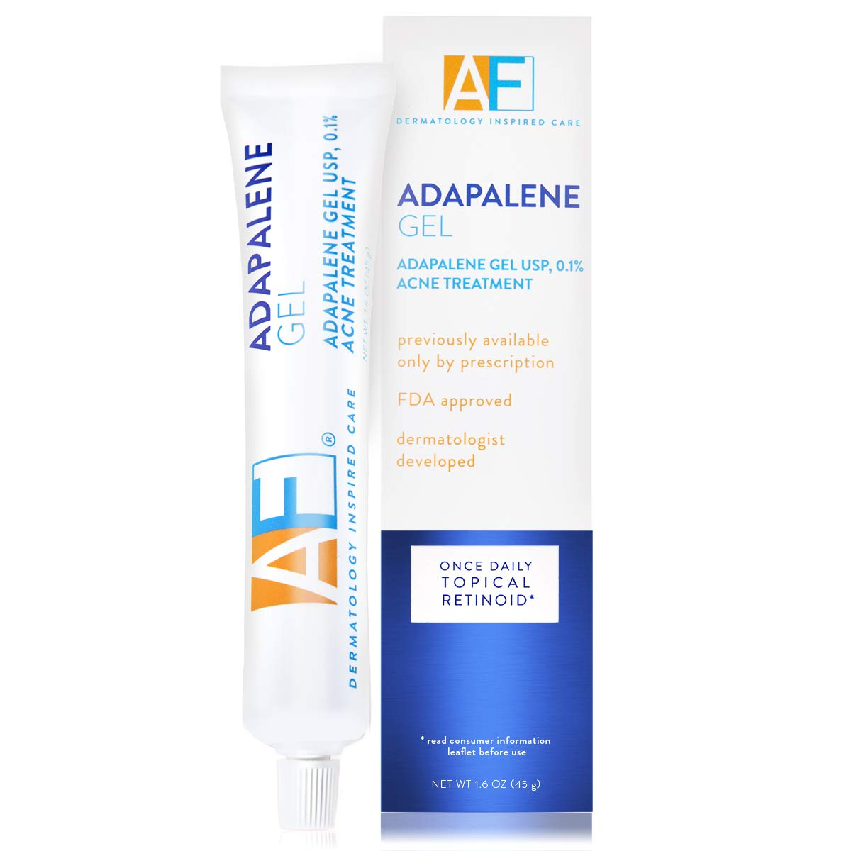 Amazon Com Acne Free Adapalene Gel 0 1 Once Daily Topical