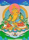 Tibetan Buddhist Vaishravana (Kubera) - Tibetan Thangka Painting
