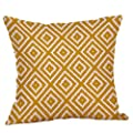 FORUU Throw Pillowcase, Mustard Pillow Case Covers Yellow Geometric Fall Autumn Cushion Decorative