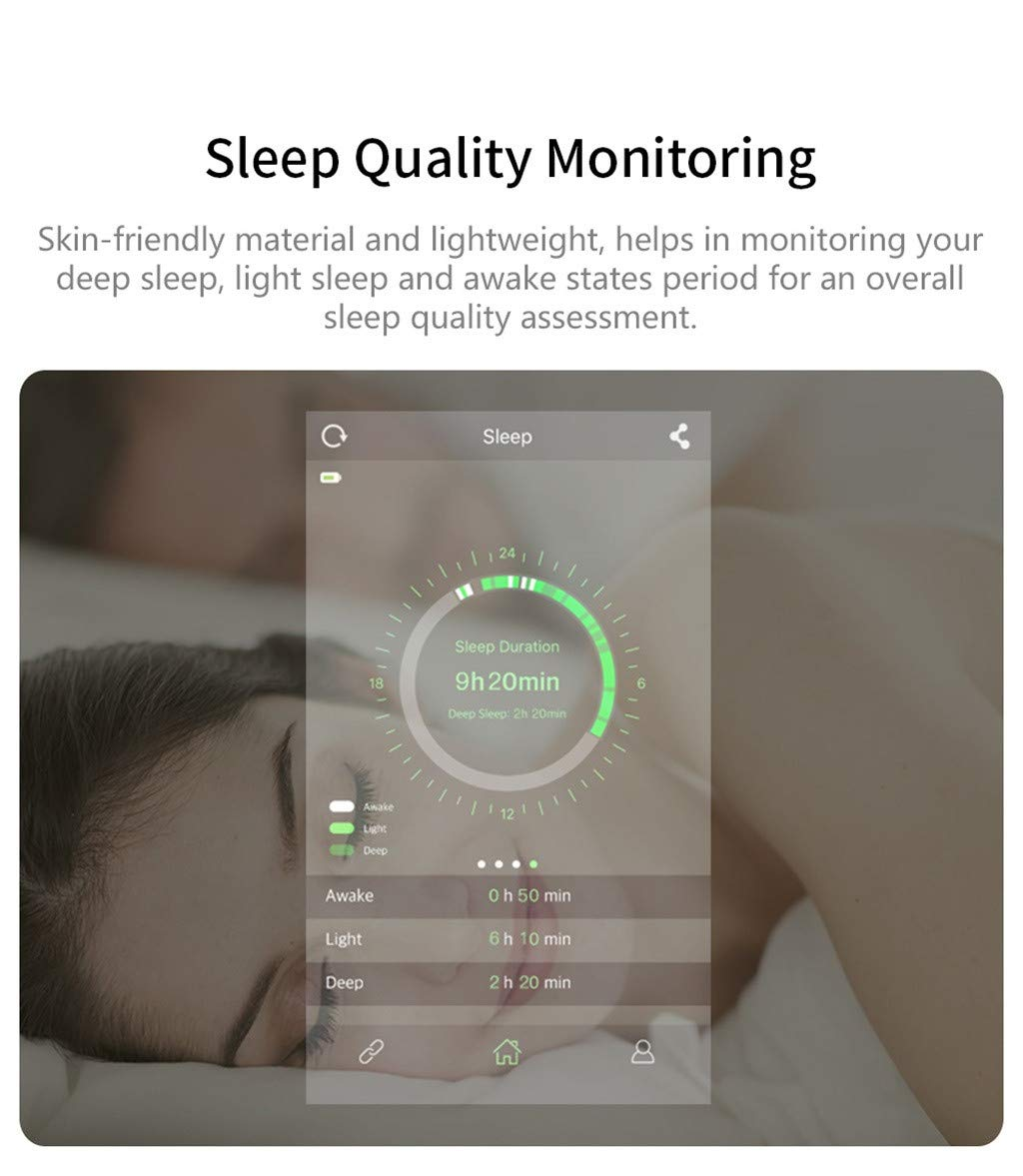 For iOS Android, Waterproof Sport Smart Watch Fitness Activity Blood Pressure Heart Rate Sleep Monitoring Smart Bracelet (D) by YNAA (Image #3)