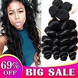 8A Brazilian Hair Bundles Loose Wave 100% Remy Human Hair Bundles Virgin Brazilian Hair Mixed Length Loose Wave Hair Bundles